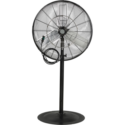 Outdoor Misting and Oscillating Pedestal Fan