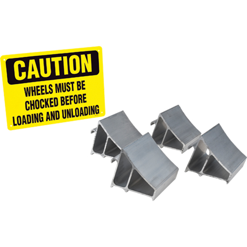 Aluminum Wheel Chock Kit