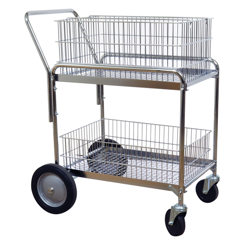 Wire Mesh Office Mail Cart