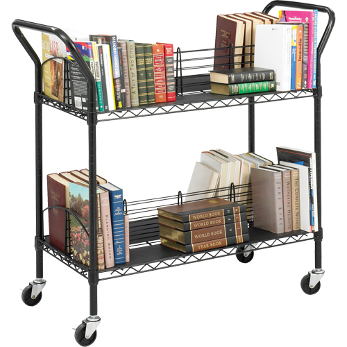 Double-Sided Wire Book Cart