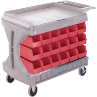 Pro Cart With Blue Bins CC825 | Office Plus
