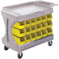 Pro Cart With Yellow Bins CC832 | Office Plus