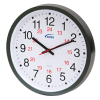 Horloge 12/24 h murale à pile HT072 | Office Plus