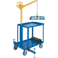 Tall Sky Hooks with Mobile Cart LS954 | Office Plus