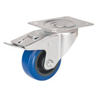 Blue Elastic Rubber Caster MO513 | Office Plus