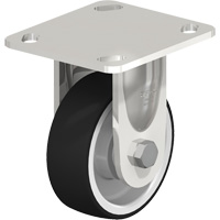 Stainless Steel Solid Rubber Caster MO710 | Office Plus