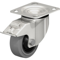Stainless Steel Solid Rubber Caster MO715 | Office Plus