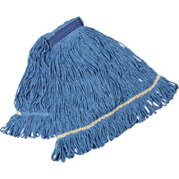 MOP HEAD WET BLUE LOOPEDEND SMALL WIDE BAND NI737 | Office Plus