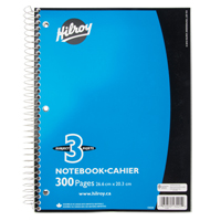 "CAHIER ATTACHES FIL META10.5""X8"",300PAGES,3SUJET OD477 