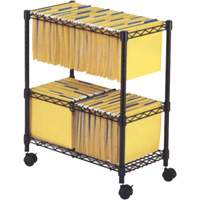 File Carts- 2-tier Rolling File Cart OE806 | Office Plus