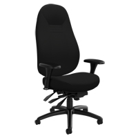 Chaise confortable ObusForme<sup>MD</sup> à dos élevé OP928 | Office Plus