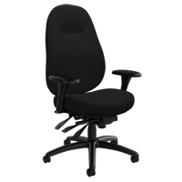 Chaise confortable ObusForme<sup>MD</sup> à dos moyen OP930 | Office Plus