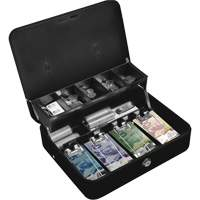 Tiered-Tray Deluxe Cash Box OQ771 | Office Plus