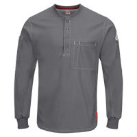 Excel FR® Long Sleeve Henley Shirts SGC032 | Office Plus