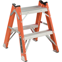 L-3433 Series - Extra Heavy-Duty Twin Front Step Stool VD426 | Office Plus